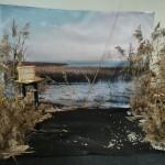 Rēzeknes novada stendu grezno Latvijas lielākā ezera - Lubāna attēls.