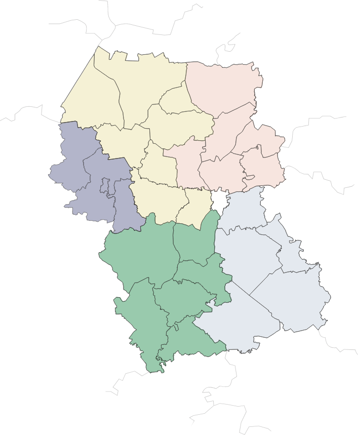 Rēzeknes novada karte